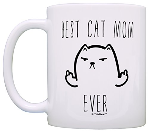 funny cat gifts best cat mom ever rude cat lovers cat memes gift